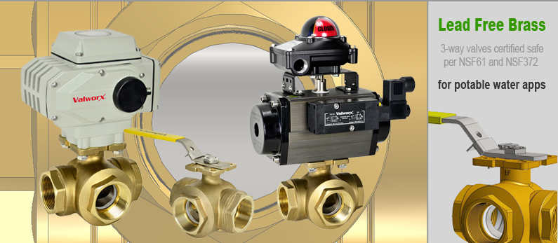 3-Way Brass Ball Valves