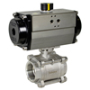 Air Actuated 3-Piece Stainless Ball Valves