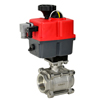 Electric Actuated 3-Piece Stainless Ball Valves - Multi-Voltage