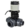 Electric Actuated PVC 3-Way Ball Valves - Compact
