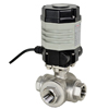 Electric Actuated Stainless 3-Way Ball Valves - Compact
