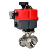 Electric Actuated Stainless 3-Way Ball Valves - Multi-Voltage