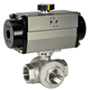 Air Actuated Stainless 3-Way Ball Valves