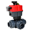 Electric Actuated PVC 3-Way Ball Valves - Multi-Voltage